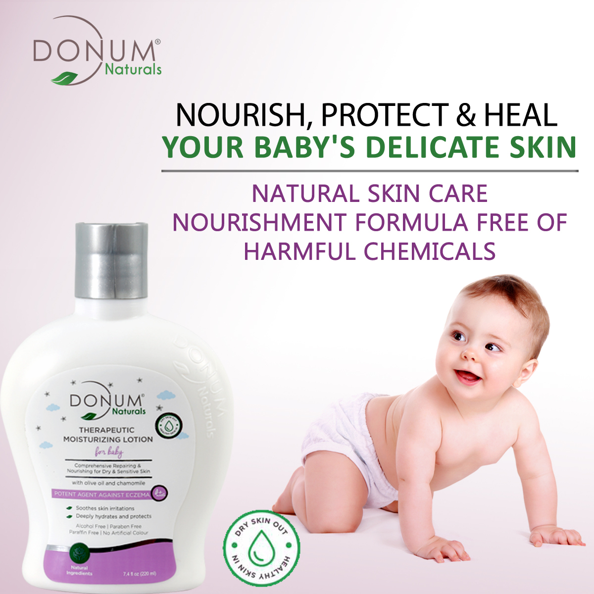 Ultra Moisturizing Skin Repairing Massage Oil In Body Lotion For Baby