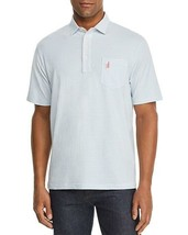 NEW JOHNNIE-O WHITE BREAKER BLUE STRIPED CLIFFS ORIGINAL POLO SHIRT SIZE XL - $48.71