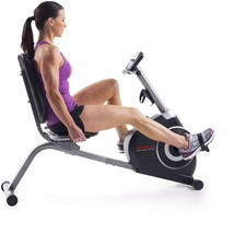 Recumbent Exercise Bike In Home Cardio LCD Display Monitor Adjustable Re... - $203.99