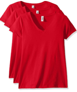 Marky G Apparel Women's Sueded V T-Shirt Red Size Small (3 Pack) New Sol... - $16.70