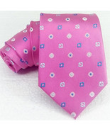 NEW striped Neck tie 100% silk 3.34 Dark Pink ITALY business / wedding R... - $25.33
