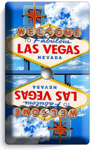 Las Vegas Nevada Welcome Sign Light Dimmer Cable Wall Plate Room Man Cave Decor - $9.89