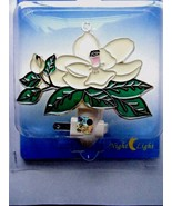 White Magnolia Blossom Design Night Light UL Listed New In Package - $17.77