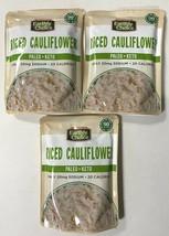 3 pack of Earthly Choice Riced Cauliflower Paleo Keto - 8.5oz packs