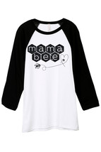 Thread Tank Mama Bee Unisex 3/4 Sleeves Baseball Raglan T-Shirt Tee White Black - $24.99+