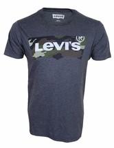 NEW LEVI'S STRAUSS MEN'S CLASSIC COTTON BATWING CAMO GREY SHIRT T-SHIRT 117508