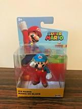 "World of Nintendo Ice Mario 2.5"" Super Mario Figure Jakks Pacific Wave 20- New - $12.86"