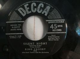"Bing Crosby 45 RPM Record DECCA Sleeve 7"" 1950 Silent Night Adeste Fidel... - $10.00"