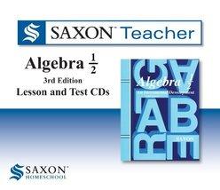 Saxon Algebra 1/2 Homeschool: Saxon Teacher CD ROM 3rd Edition 2010 [Aud... - $44.80