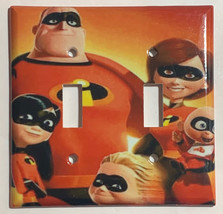 The Incredibles Family Light Switch Outlet duplex wall Cover Plate Home Decor image 3