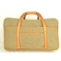 "Hartmann Luggage 21"" Tweed & Leather Vintage Carry on image 2"