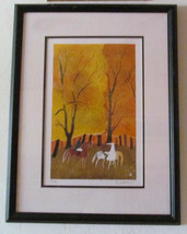 "Serge Lassus, Titled ""Fall Hunting"" Color SilkScreen Print, COA 59/250 S... - $849.99"