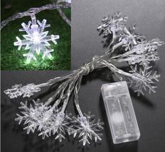 (10 LED white)10 LED Battery Operated Heart Shaped Christmas String Light F - $16.00