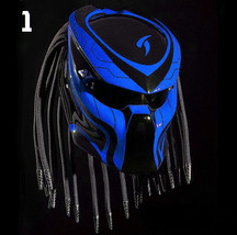 Top Predator Motorcycle Helmet Motive Blue Line (Dot & Ece Certified) - $250.00