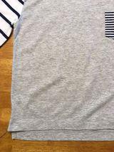Gap Kids Girl's Gray, Blue & White Striped Pocket Shirt - Size: Medium image 9