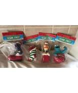 4 Sesame Street Kurt S Adler Bert Grover Cookie Monster Elmo Christmas O... - $29.69