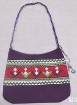 Native American Patchwork Ladie's Bag Purse Purple Handmade Seminole Bea... - $59.99