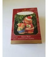 Hallmark Ornament 1999 MARY'S BEARS Bear & Rabbit MIB - $9.21