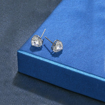 Realistic New Fine CZ Sterling Silver 925 Halo Stud Earrings w/ Micro Pave - $8.81
