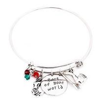 Eliana and Eli Little Mermaid Part of Your World Silver Bangle Bracelet ... - $18.41