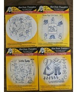 Lot Of 4 Hot Iron On Transfers 4 Designs Embroidery Fabric Painting Crafts New - $38.21