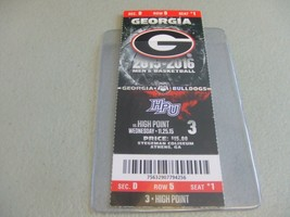High Point Panthers vs Georgia Bulldogs (11-25-2015) Basketball Ticket S... - $3.12