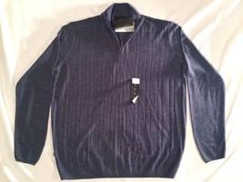 Men's Sweater Geoffrey Beene Long Sleeve New Super Soft V-Neck Zip Up Si... - $16.82