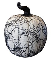 "Allstate 15"" Spooky Black Spider Web Lace Covered Halloween Pumpkin Tabl... - £56.97 GBP"