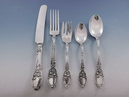 Brides Bouquet by Alvin Silverplate Vintage Flatware Set For 8 Service 4... - $795.00