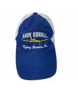 Andy Riddell Flying Services AR Blue White Mesh Back Adj Baseball Cap Ba... - $17.75