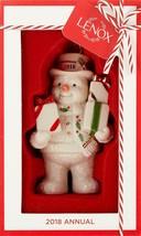 2018 Annual Lenox Gifts Galore Snowman New Christmas Ornament BNIB/SDS - $18.86