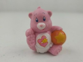 Vintage Care Bear BABY HUGS Figure Pink Star/Heart 1984 AGC Holding Foot... - $7.50