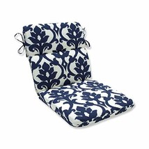 Pillow Perfect Outdoor/Indoor Basalto Navy Round Corner Chair Cushion, 4... - £46.05 GBP