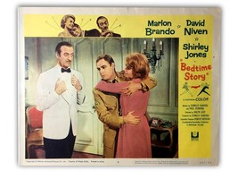 """BEDTIME STORY"" ORIGINAL 11X14 AUTHENTIC LOBBY CARD POSTER 1964 BRANDO - $62.96"