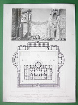 ARCHITECTURE PRINT : ITALY Rome Antoninus Caracalla's Baths - $16.20