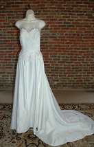 Corset Style A-line Bridal Gown with Chapel Length Train - $135.00