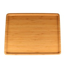 """Organic Bamboo Serving Tray - 17""""x13""""x0.75"""" - Rounded Edges - 1 Piece - $38.87"""