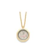 """Goldtone """"L"""" Monogram Floating Locket Pendant Necklace - $16.95"""