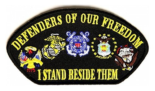 Defenders Of Our Freedom I Stand Beside Them Patch - 5x2.75 inch