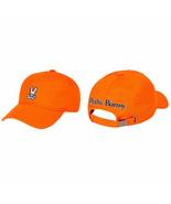 Psycho Bunny Men's Cotton Embroidered Fiesta Orange Baseball Cap Strapba... - $32.62