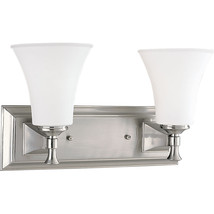 Brushed Nickel Wall Bath Vanity Fixture Bathroom Progress Lighting P3132-09 - $76.26