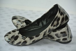 Tory Burch Eddie Womens Sz 5.5 M Patent Leather Animal Print Ballet Flat... - $49.49