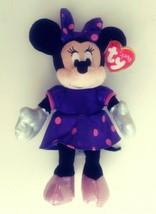 """TY Disney Beanbag Plush Sparkle Minnie Mouse 6"""" NWT - $11.61"""