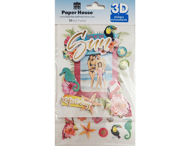 Paper House 3D Fun in the Sun Sticker Set #STDF-0020