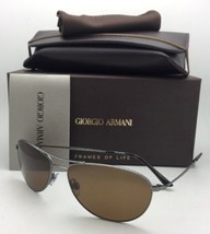 Polarized GIORGIO ARMANI Sunglasses AR 6024 3003/57 Gunmetal Frames Brow... - $250.55