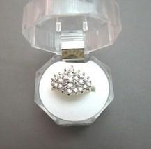 14K Diamond Cluster Ring 1CTW 5.84 Grams Size 7 Single Cut Yellow Gold N... - $494.99
