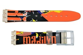 Swatch Replacement 17mm Plastic Watch Band Strap with Marilyn Design Fit - $8.95