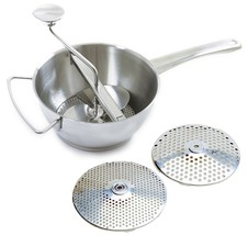 Norpro 595 Food Mill Ricer Strainer 2Qt With 2 Discs 18/10 Stainless Steel - €30,43 EUR