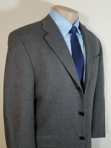 JOSEPH ABBOUD BY NORDSTROM MEN'S SPORTS COAT WOOL SILK HOUNDSTOOTH 39R 3-BUTTON