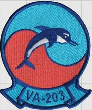 Officer US Navy Official Official VA-203 Blue Dolphins Patch & Sticker - $19.79